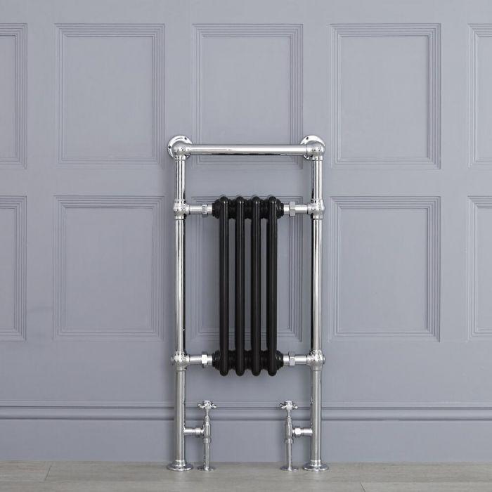 "Marquis - Black Traditional Heated Towel Warmer - 36.75"" x 17.75"""