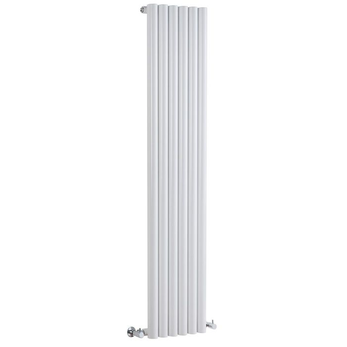 "Savy - White Vertical Single-Panel Designer Radiator - 70"" x 14"""