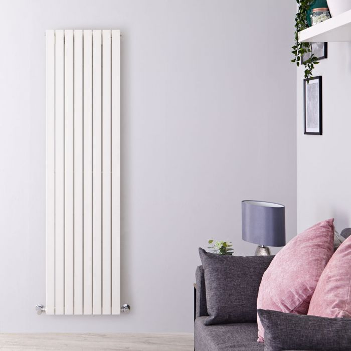 Sloane - White Vertical Single Flat-Panel Designer Radiator - 70