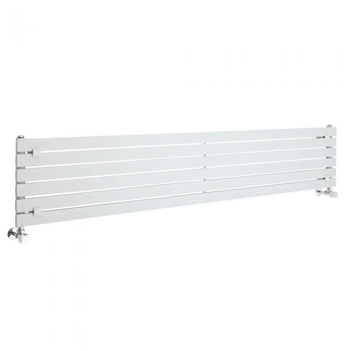 Sloane - White Horizontal Single Flat-Panel Designer Radiator - 14