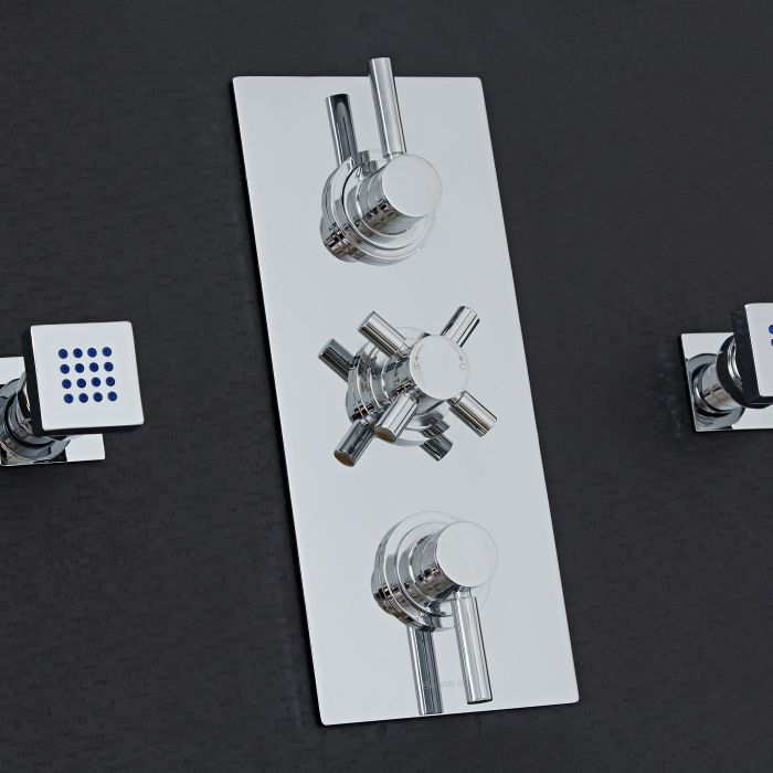 Tec Concealed 3 Outlet Triple with Diverter Thermostatic Shower Valve