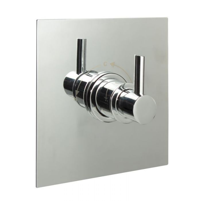 """1/2"""" Sequential Valve, Square Plate & Modern Lever Handle"""