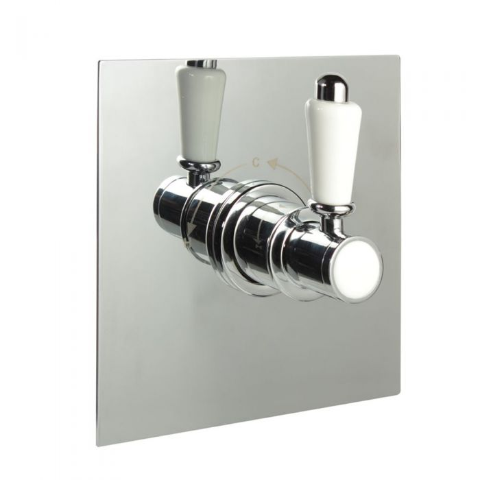 """1/2"""" Sequential Valve, Square Plate & Traditional Lever Handle"""