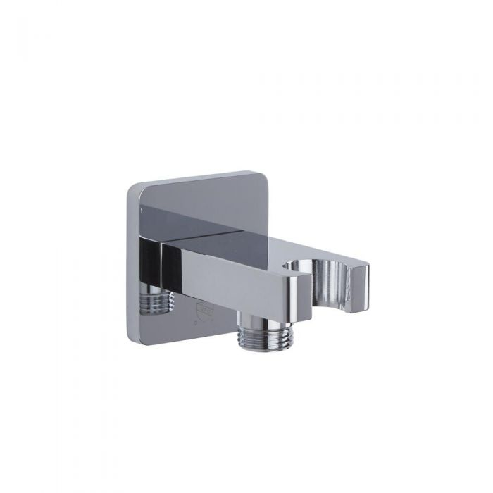Outlet Elbow with Integrated Bracket - Chrome