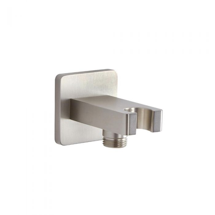 Outlet Elbow with Integrated Bracket - Brushed Nickel