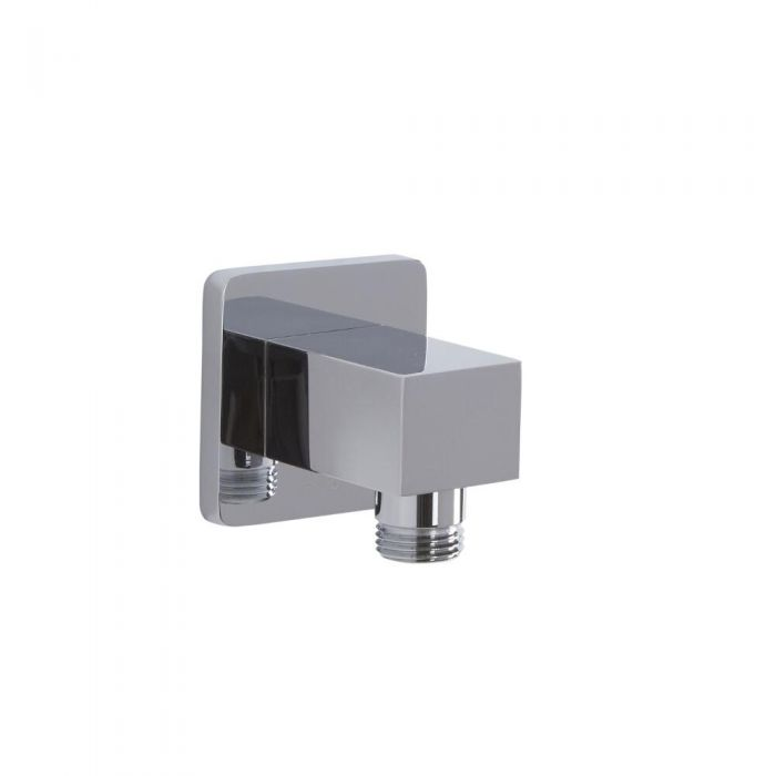 Square Outlet Elbow - Chrome
