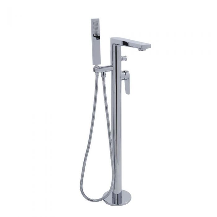 Arcadia - Chrome Freestanding Tub Faucet with Hand Shower