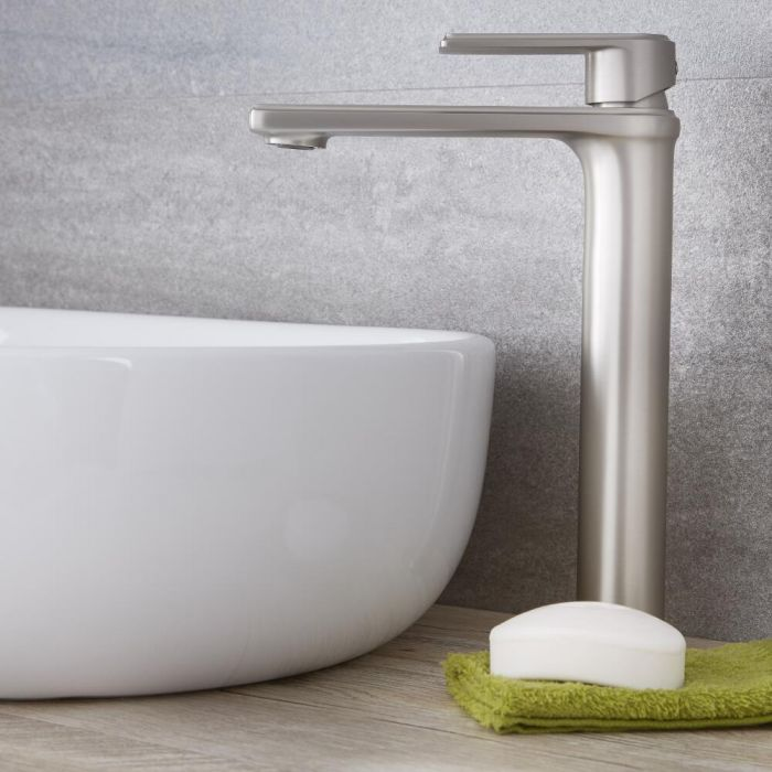 Eclipse - Brushed Nickel Single-Hole Vessel Faucet