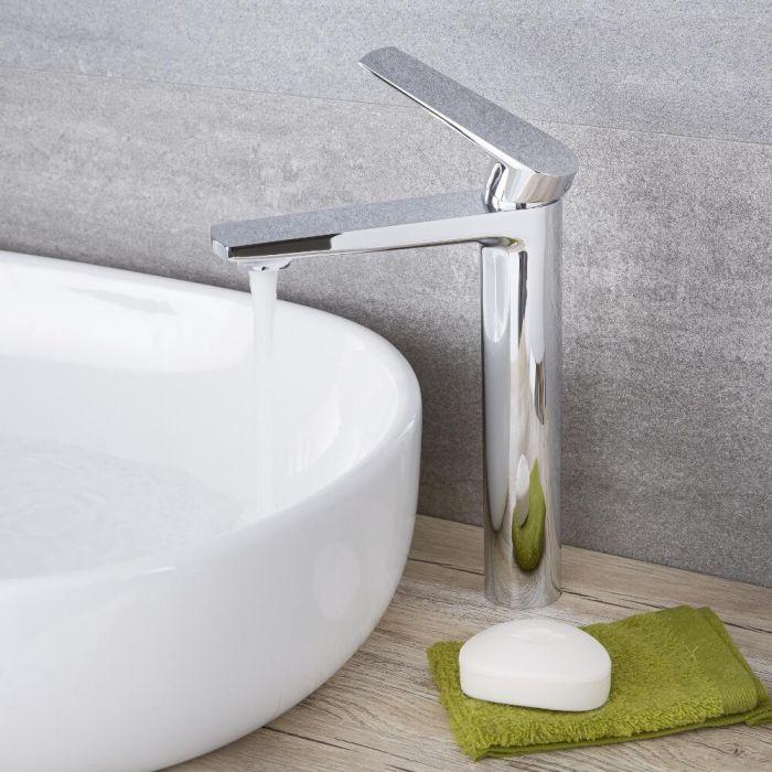 Arcadia - Chrome Modern Single-Hole Vessel Faucet