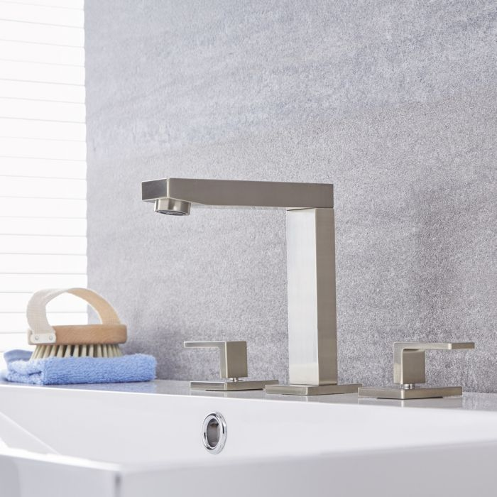 Kubix - Widespread Bathroom Faucet - Multiple Finishes Available