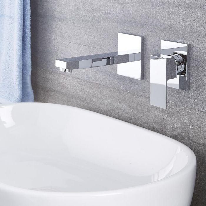 Kubix Chrome Wall Mounted Bathroom Faucet