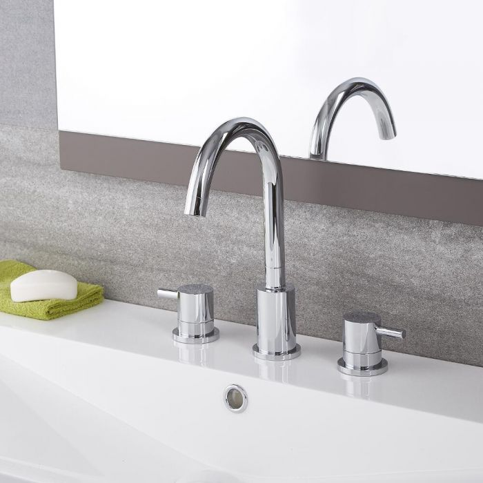 Quest -  Chrome Widespread Bathroom Faucet
