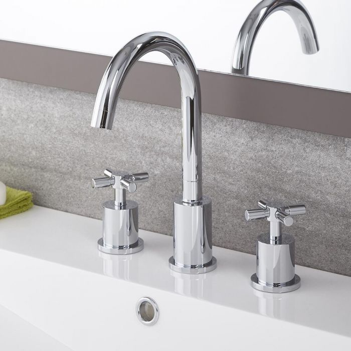 Tec - Chrome Widespread Bathroom Faucet