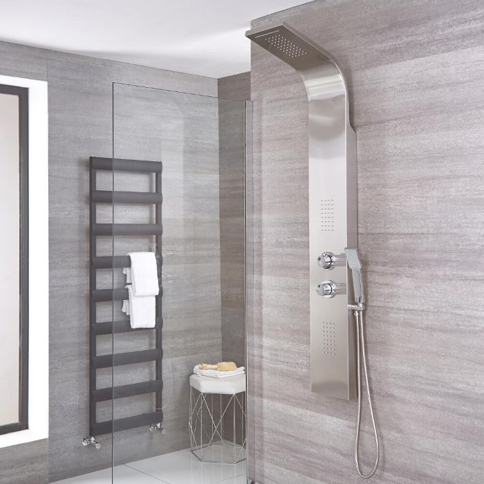 Weston - Stainless Steel Thermostatic Waterfall Shower Panel