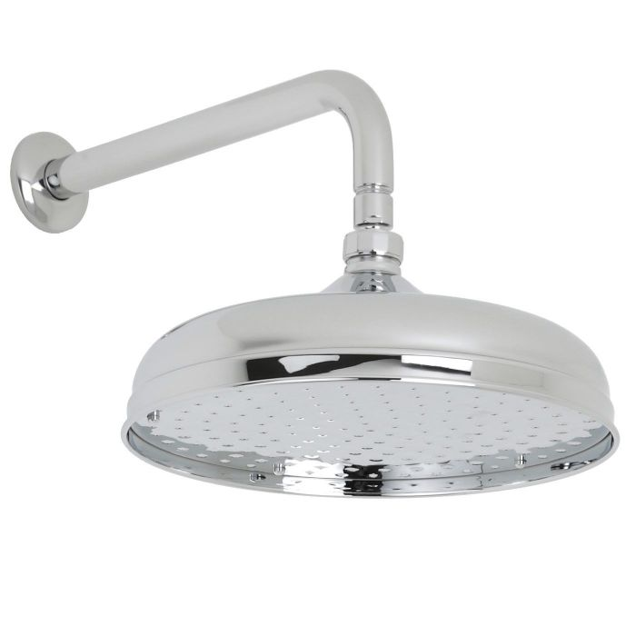 "Valquest 12"" Traditional Shower Head with Wall Arm"