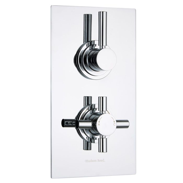 Tec Concealed 2 Outlet Twin with Diverter Thermostatic Shower Valve