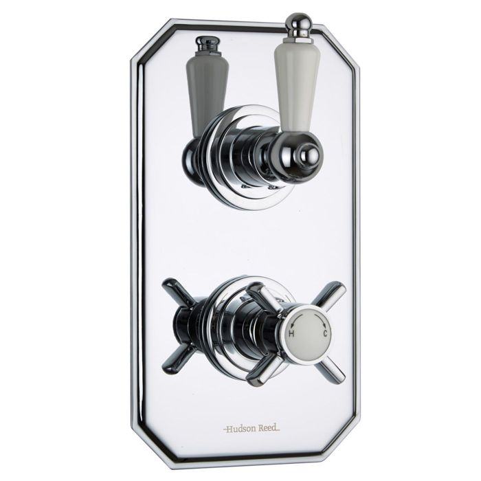 Beaumont Concealed 1 Outlet Twin Thermostatic Shower Valve (Traditional Plate)