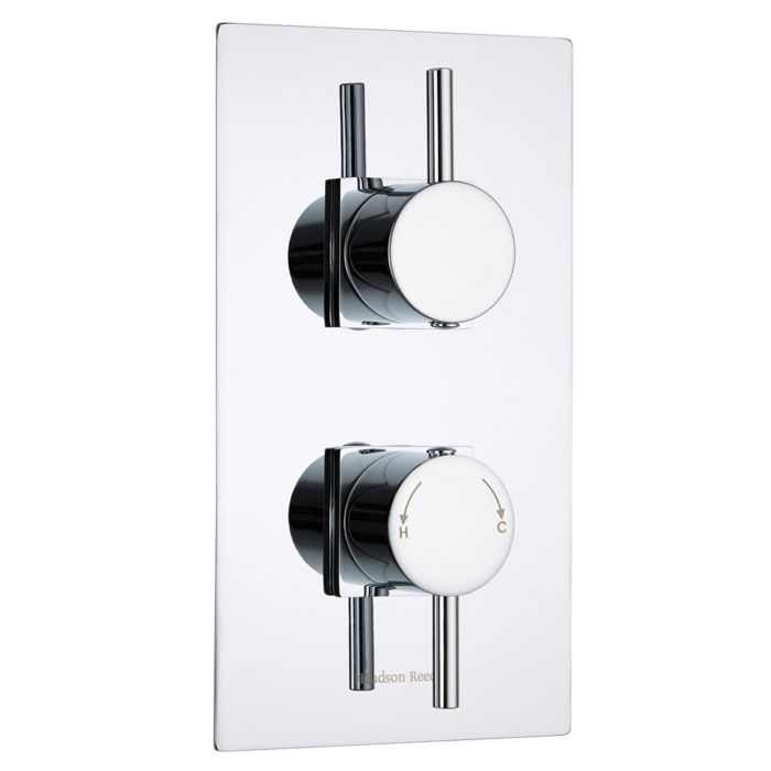 Quest Concealed 2 Outlet Twin with Diverter Thermostatic Shower Valve (Square Flange)
