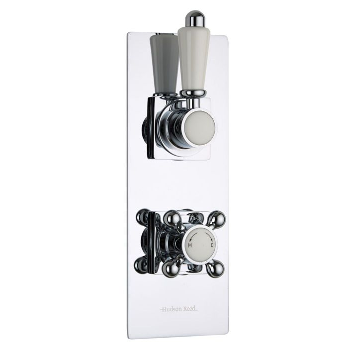 Traditional Concealed 1 Outlet Twin Thermostatic Shower Valve (Slim Trim Plate)