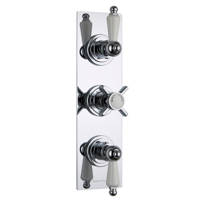 Beaumont Concealed 2 Outlet Triple Thermostatic Shower Valve (Slim Plate)