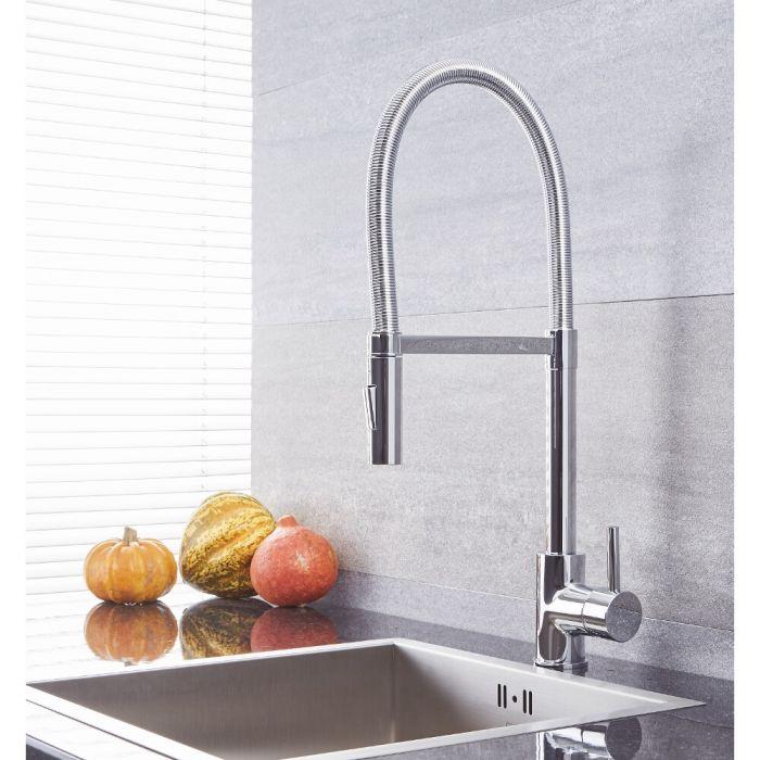 Quest - Chrome Single-Hole Kitchen Faucet