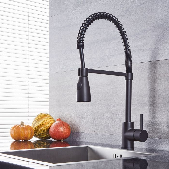 Quest - Kitchen Faucet with Spring Spout - Multiple Finishes Available
