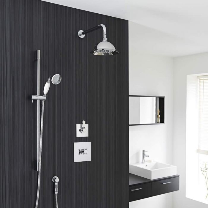 Traditional 2-Outlet Shower System with 8