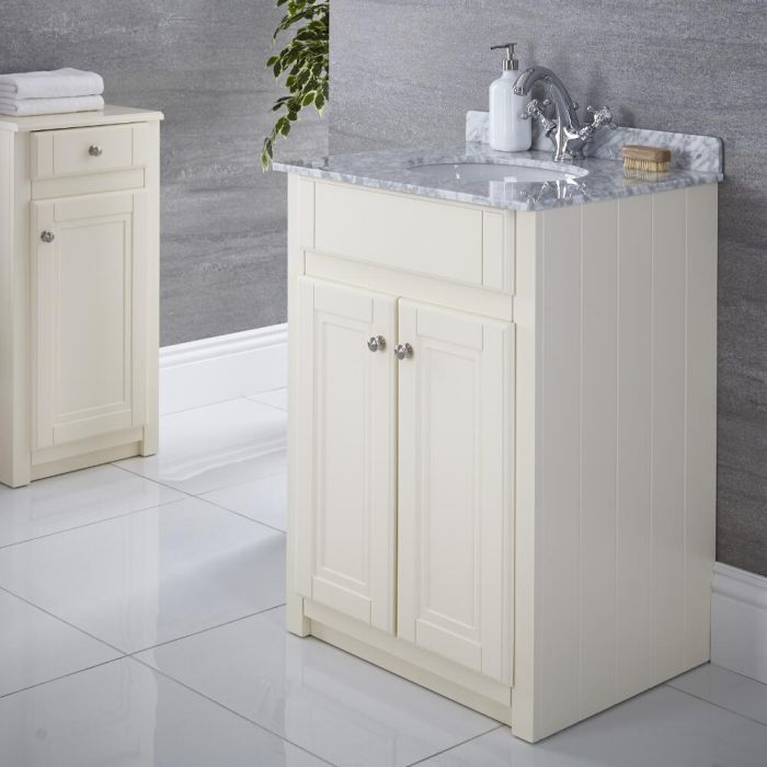 "Charlton - 24"" Ivory Traditional Bathroom Vanity"