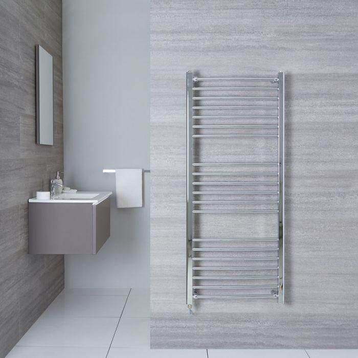 "Eco Electric - Chrome Curved Heated Towel Warmer - 55.25"" x 23.75"""