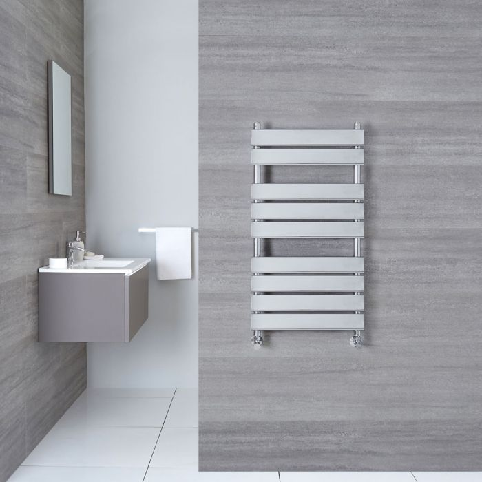 "Select - Hydronic Chrome Heated Towel Warmer - 37.5"" x 19.75"""
