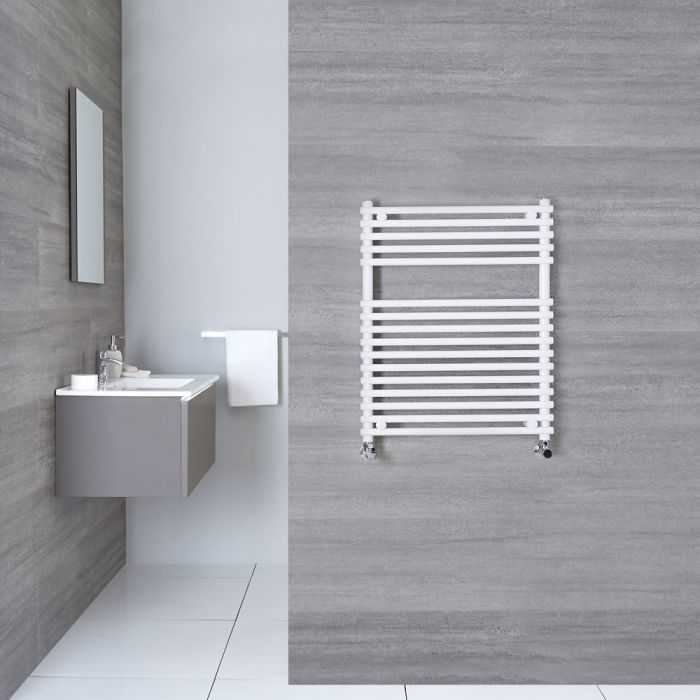 "Ischia - Hydronic White Heated Towel Warmer - 29.5"" x 17.75"""