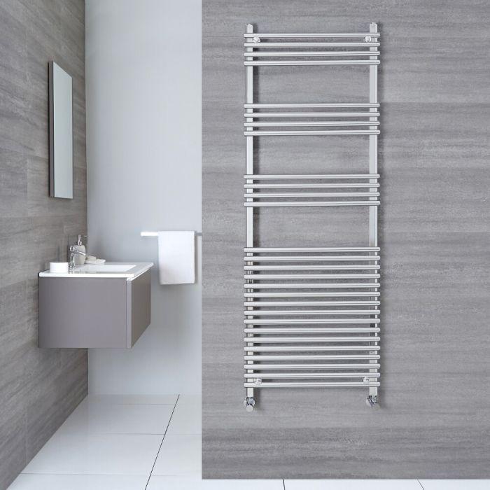 "Ischia - Hydronic Chrome Heated Towel Warmer - 65"" x 17.75"""