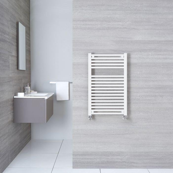 "Etna - Hydronic White Flat Heated Towel Warmer - 31.5"" x 19.75"""
