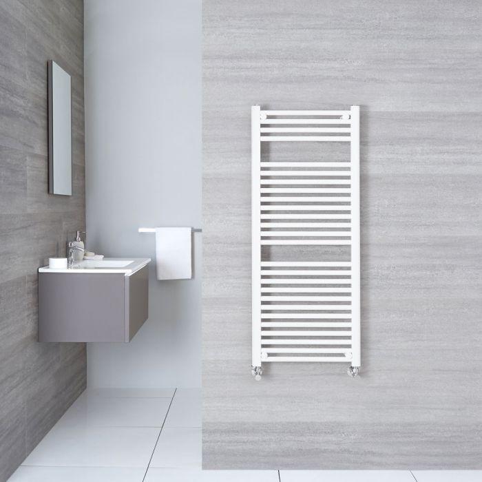 "Etna - Hydronic White Flat Heated Towel Warmer - 47.25"" x 19.75"""