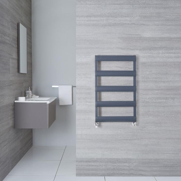 "Gradus  - Anthracite Hydronic Towel Warmer - 31"" x 19.75"""