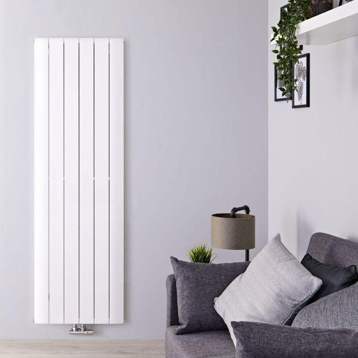 """Aurora - White Aluminum Vertical Designer Radiator - 70.75"""" x 22.25"""""""