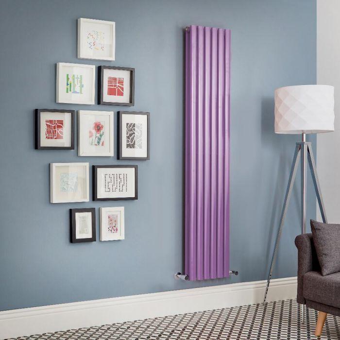 Revive - Purple Vertical Double-Panel Designer Radiator - All Sizes