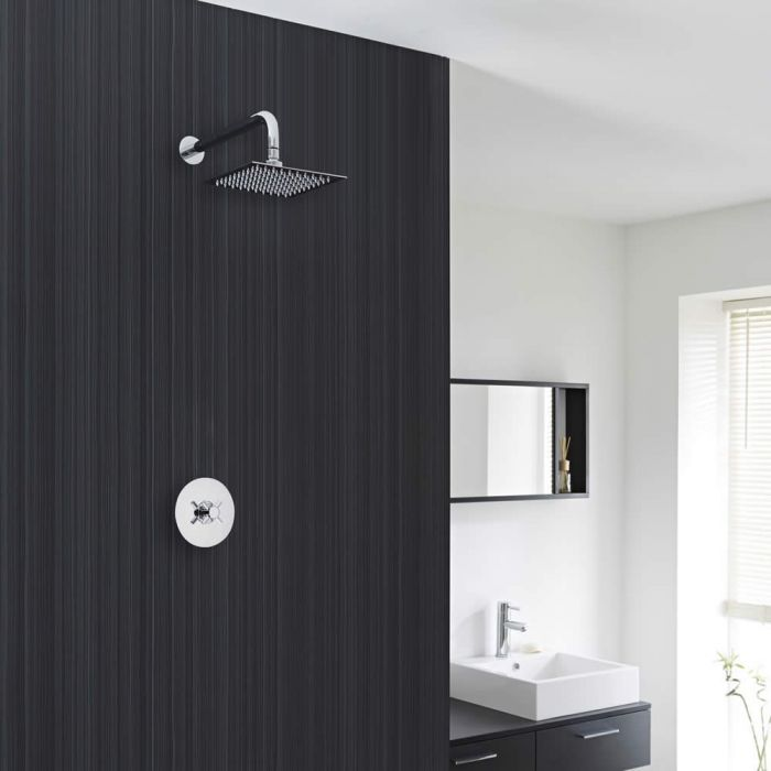 """Traditional Shower System with Sequential Valve and 8"""" Square Head"""