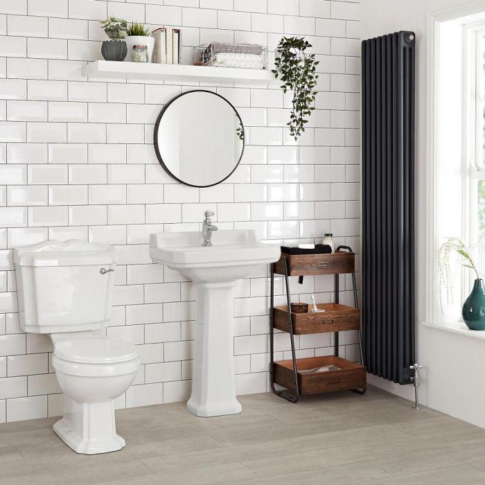 "Traditional Carlton  Porcelain Sink and Pedestal 23"""