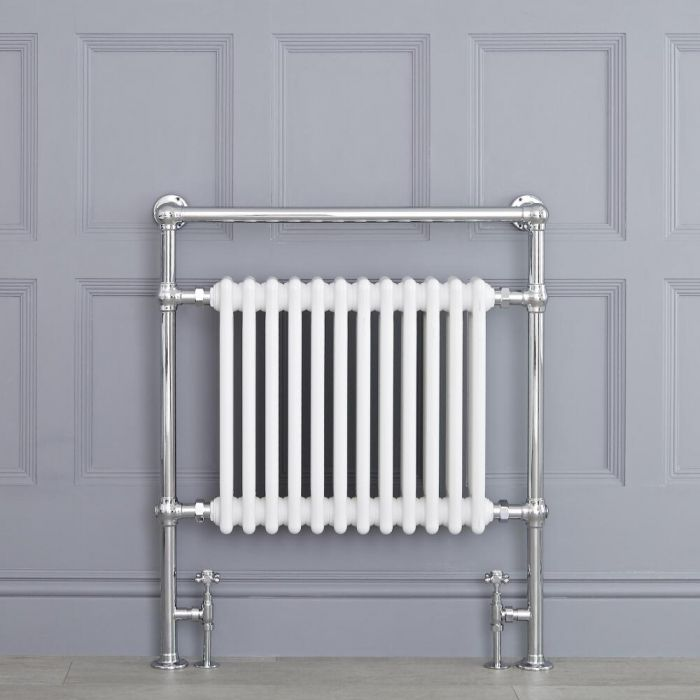 "Marquis - White Traditional Heated Towel Warmer - 36.75"" x 31.25"""