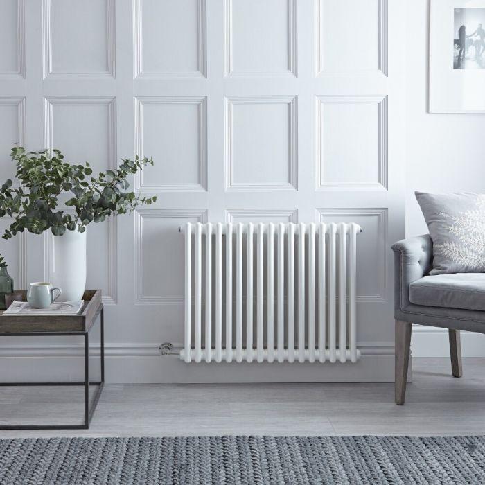 "Regent Electric - White Horizontal 2-Column Traditional Cast-Iron Style Radiator - 23.5"" x 31"""