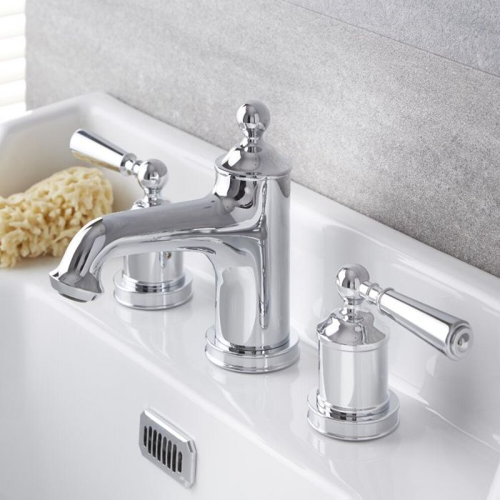 Traditional Chrome Widespread Bathroom