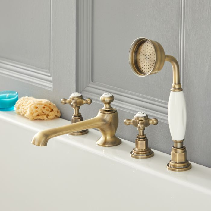 Elizabeth - Traditional Roman Tub Faucet - Brushed Gold