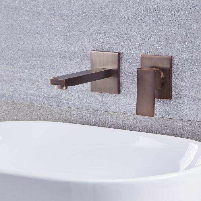 Kubix - Single Hole Wall Mounted Bathroom Faucet - Multiple Finishes Available