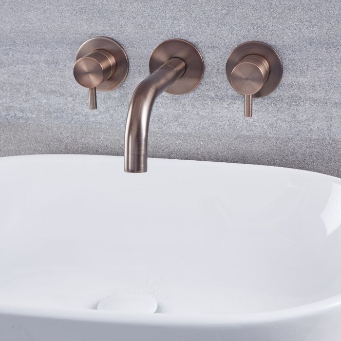 Quest - Oil-Rubbed Bronze Wall Mounted Bathroom Faucet