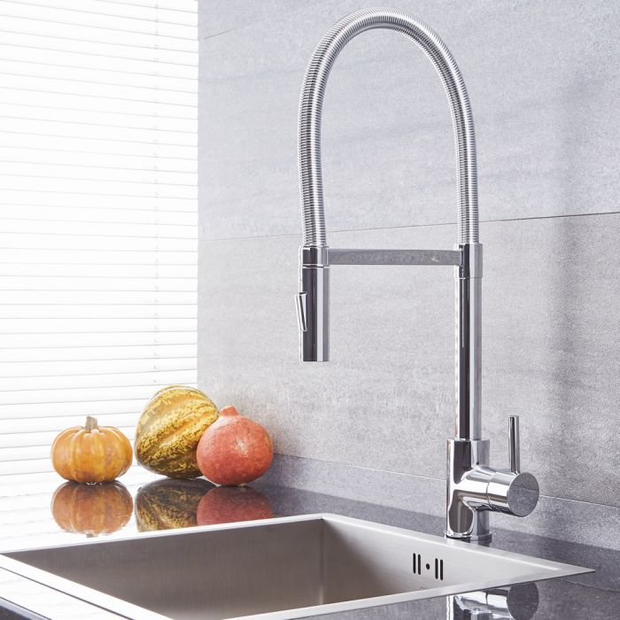 Quest – Modern Single-Hole Kitchen Faucet - Multiple Finishes Available