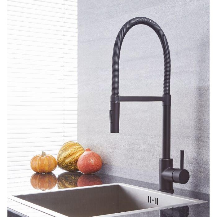Quest - Black Single-Hole Kitchen Faucet