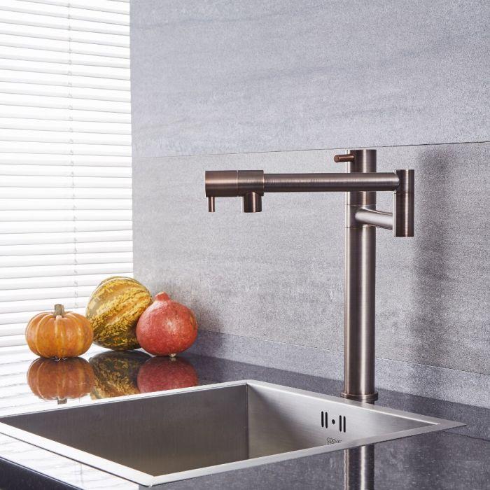 Quest - Oil-Rubbed Bronze Deck Mounted Retractable Pot Filler