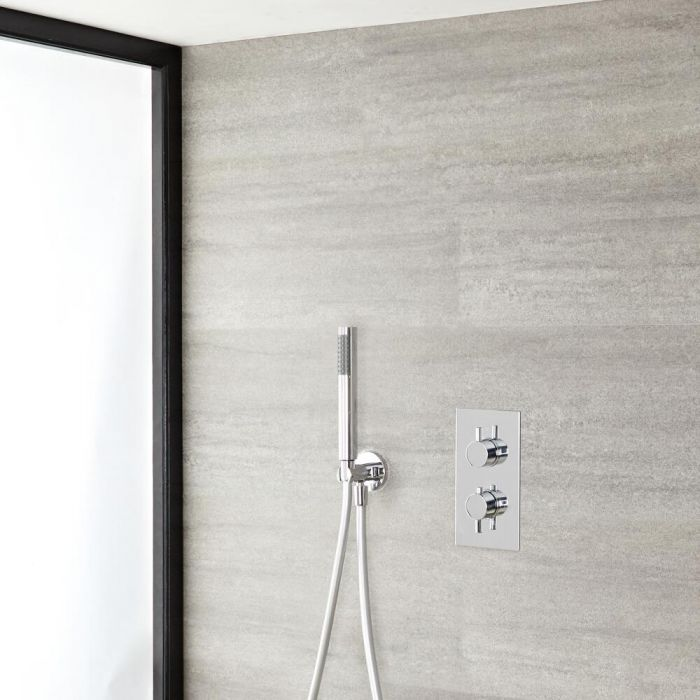 Quest Thermostatic Chrome Shower System with Hand Shower