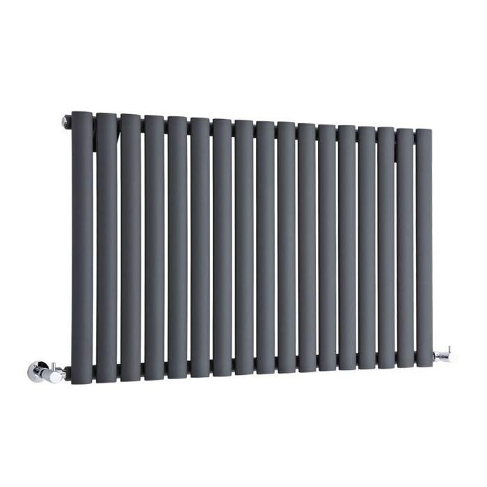 "Revive - Anthracite Horizontal Single-Panel Designer Radiator - 25"" x 39.25"""